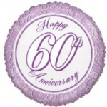 "60th ANNIVERSARY BALLOON  18""  15183-18"